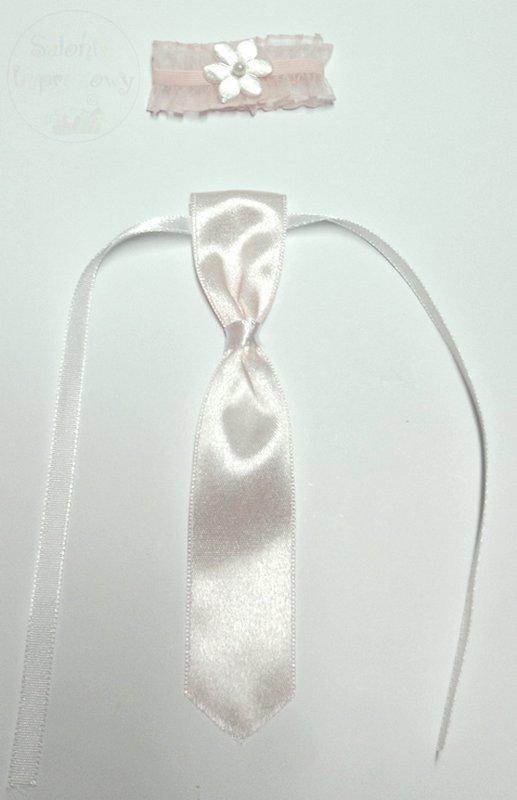 Podwiązka i krawat zawieszki wódkę weselna j. róż