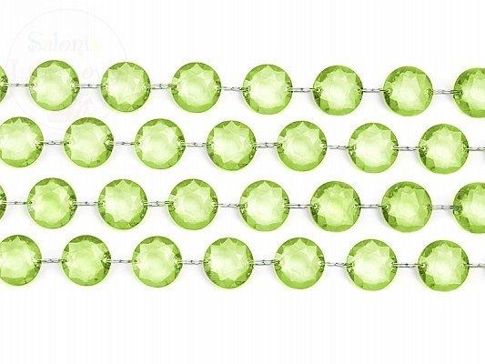 Girlanda kryształowa jasnozielona długość 1m