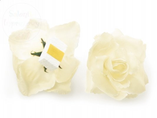 Róże do przylepiania kremowe KWR-079 1 szt