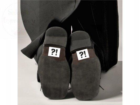"""Naklejki na buty """"?!""""  2szt NB6"""