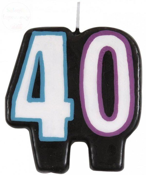 """Świeczka urodzinowa """" 40 """"- 1 szt"""