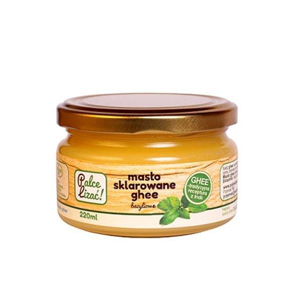 Masło klarowane ghee bazyliowe Palce Lizać 220ml