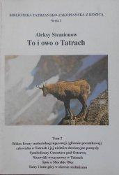 Aleksy Siemionow • To i owo o Tatrach tom 2