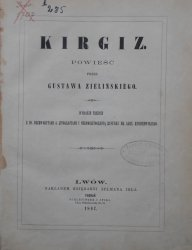 Gustaw Zieliński • Kirgiz. Powieść