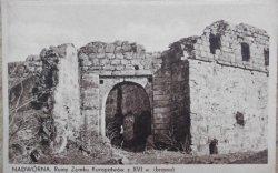 Nadwórna. Ruiny zamku Kuropatwów z XVI wieku (brama)