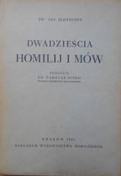 Św. Jan Złotousty • Dwadzieścia homilij i mów