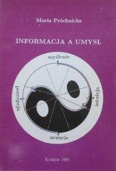 Maria Próchnicka • Informacja a umysł