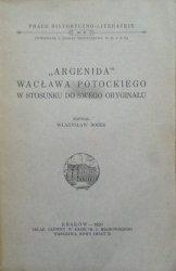 Władysław Bolek • 'Argenida' Wacława Potockiego w stosunku do swego oryginału