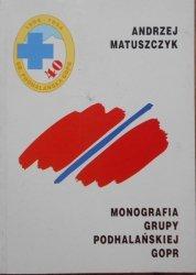Andrzej Matuszczyk • Monografia grupy podhalańskiej GOPR