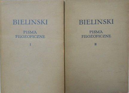 Bieliński • Pisma filozoficzne