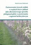Zastosowanie żywych ściółek w rzędach drzew jabłoni
