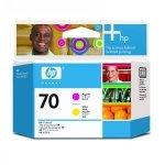 HP oryginalny głowica drukująca C9406A, HP 70, magenta/yellow, HP Photosmart Pro B9180, Designjet Z2100, Z3100