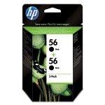 HP oryginalny ink C9502AE, HP 56, black, 900 (2x450)s, 2x19ml, HP 2-Pack, C6656AE, DeskJet 450, 5652, 5150, psc-7150