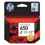 HP oryginalny ink CZ102AE, HP 650, color, 200s, HP Deskjet Ink Advantage 2515 AiO, 3515 e-Ai0, 3545