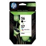 HP oryginalny ink SA342AE, HP 56 + HP 57, black/color, 520/500s, 2szt, HP 2-Pack, C6656 + C6657