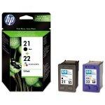 HP oryginalny ink SD367AE, HP 21 + HP 22, black/color, blistr, 190/165s, 2szt, HP 2-Pack, C9351AE + C9352AE