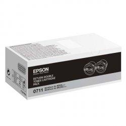 Epson oryginalny toner C13S050711, black, 2x2500s, return, Epson AcuLaser M200, MX200
