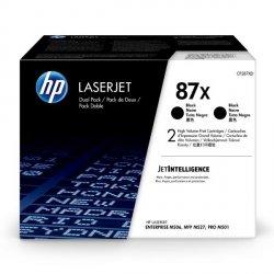 HP oryginalny toner CF287XD, black, 2*18000s, HP 87X, HP LaserJet Enterprise M506dh,dn,n,x, M501n, Dual pack, 2*2,7 kg