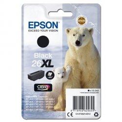 Epson oryginalny ink C13T26214012, T262140, 26XL, black, 12,2ml, Epson Expression Premium XP-800, XP-700, XP-600