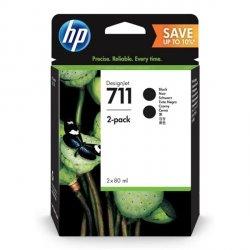 HP oryginalny ink P2V31A, HP 711, black, HP Designjet T120 ePrinter, T520 ePrinter