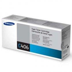 Samsung oryginalny toner CLT-C406S, cyan, 1000s, Samsung CLP-360, 365, CLX-3300, 3305