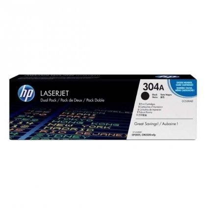 HP oryginalny toner CC530AD, black, 7000 (2x3500)s, HP 304A, HP HP Color LaserJet CP2025, CM2320, Dual pack, 2szt