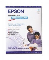 Papier Epson A4 do zaprasowywania wydruków (10 arkuszy) 124 g/m2 S041154