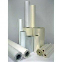 Laminat folia PVC polimeryczna błyszcząca 1370x50m 75mic do laminacji na zimno i ciepło