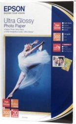 Papier Epson Ultra Glossy Photo Paper, 100 x 150mm, 300g/m2, 20 kartek S041923