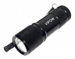 VIPOW LATARKA RĘCZNA 9 LED CZARNA URZ0060