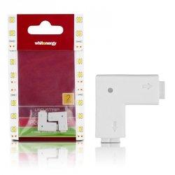 Whitenergy Złączka do taśm LED L | jednokolorowy | dwustronna | IP20 | biała | 2 szt | 2 x 2 pin żeński |
