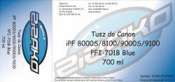 Tusz zamiennik Yvesso PFI-701B Blue 700ml do Canon iPF8000S iPF8100 iPF9000S iPF9100 CF0908B001AA