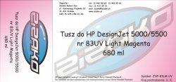 Tusz zamiennik Yvesso nr 83 UV do HP Designjet 5000/5500 680 ml Light Magenta C4945A