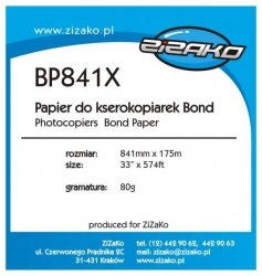 Papier w roli do ksero Yvesso Bond 841x175m 80g BP841X