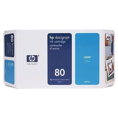 Tusz (Ink) HP 80 cyan (175ml) do DnJ 1050C/1050C+/1055CM/1055CM+ C4872A