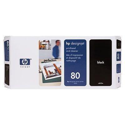 Głowica (Printhead) HP 80 black + Gniazdo czyszczące (Printhead cleaner) black do DnJ 1050C/1055CM - C4820A