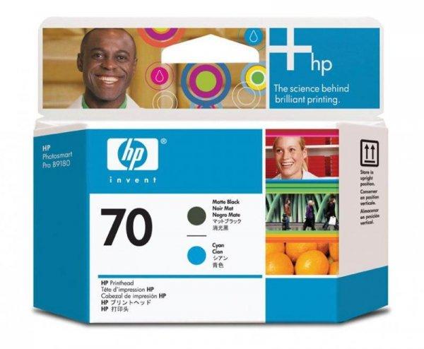 Głowica (Printhead) HP 70 matte black and cyan do Z2100/Z5200 C9404A