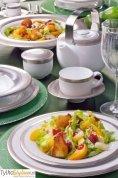 Villa Italia Valentino - Serwis obiadowy dla 12 osób (43 elementy) jesienna WYPRZEDAŻ