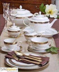 Villa Italia Renesans  - Porcelanowy zestaw obiadowy dla 12 os 43 el