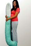 Relaksująca antybakteryjna poduszka ciążowa i do karmienia 0951