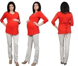 Zjawiskowa bluzka ciążowa i do karmienia wiązana z tyłu 1545