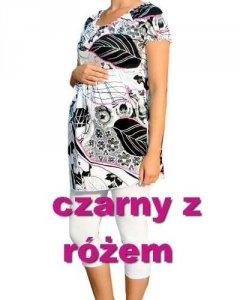 Tunika ciążowa z drukowanej tkaniny marszczona 0906