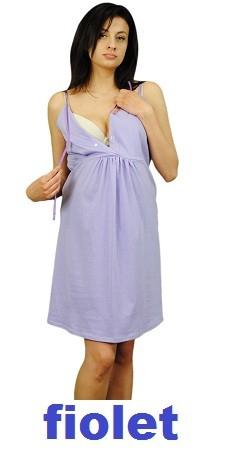 Koszula nocna ciążowa i do karmienia na ramiączkach 1248