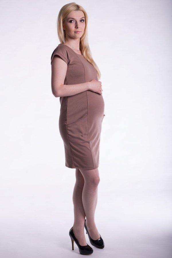 Sukienka ciążowa z krótkim rękawem 2436