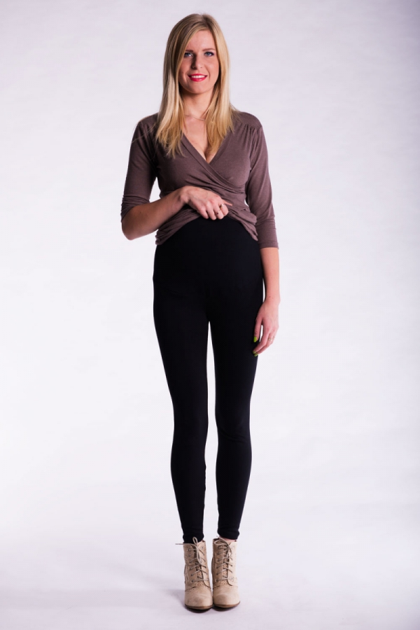 Długie legginsy ciążowe zimowe 2122, 2139