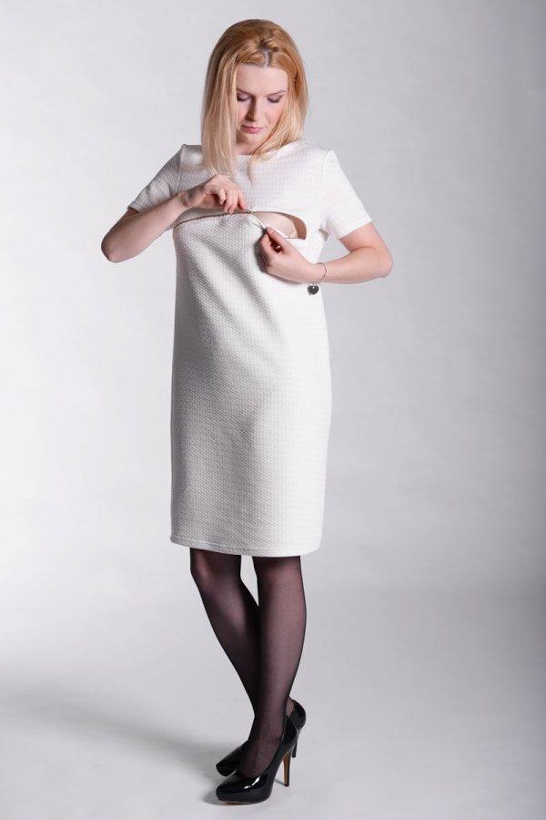 Pikowana sukienka ciążowa i dla karmiącej 2337