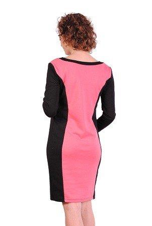 Wyszczuplająca sukienka ciążowa dwukolorowa 2191