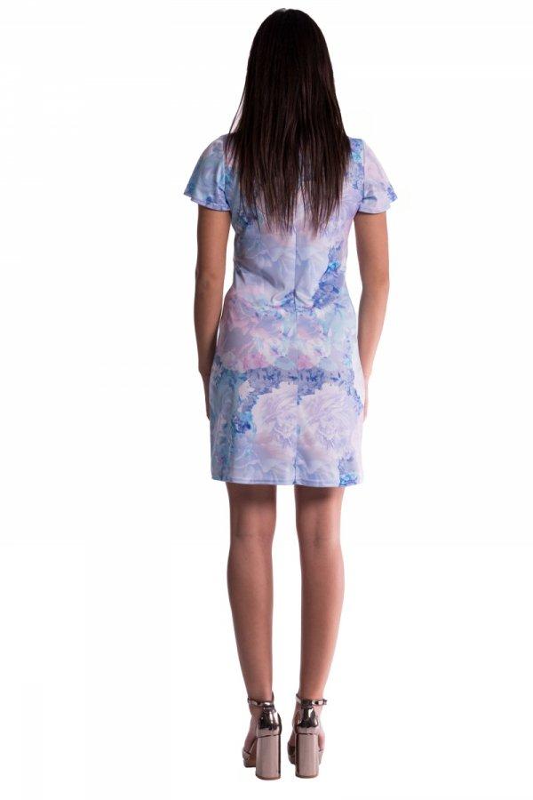 Sukienka ciążowa wiązana druk 3471