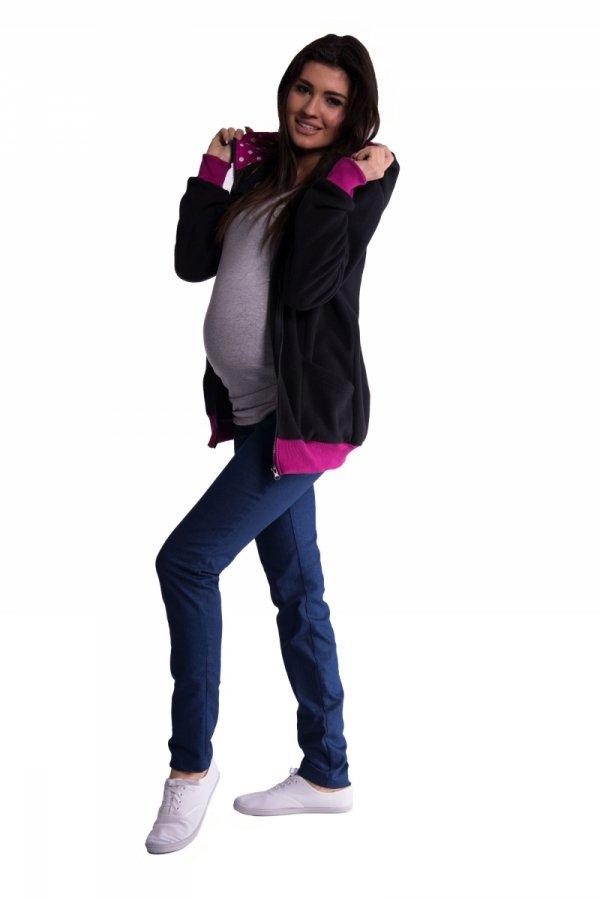 Bluza polarowa ciążowa z kapturem 2405