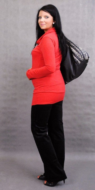 Sweterek ciążowy tunika na jesień, modna, kobieca z aplikacją 1170